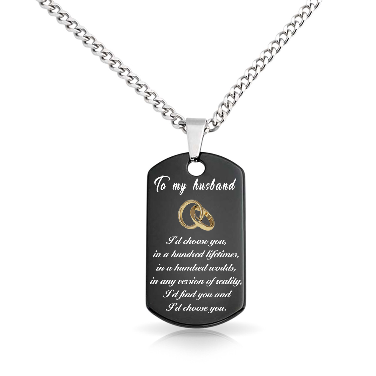 efe567f12b Exclusive To My Husband Dogtag Necklace. Not Sold in Stores - Trend City