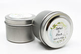 Wedding/Party Favors -  100 Two Ounces Travel Silver Tin Soy Candles Pattern B