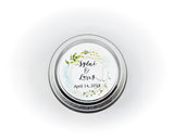 Wedding/Party Favors -  75 Two Ounces Travel Silver Tin Soy Candles Pattern B