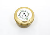 Wedding/Party Favors -  50 Two Ounces Travel Gold Tin Soy Candles Pattern A