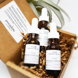 Massage & body Oil Gift Set Cure Relieve Uplift Pure Natural Aromatherapy