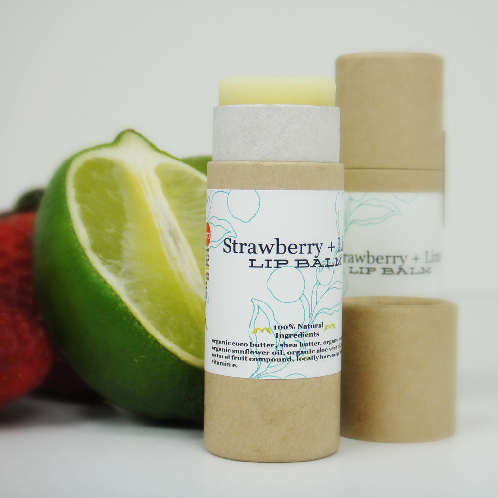 Strawberry Lime Lip Balms