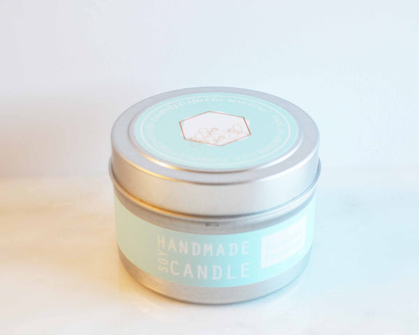 White Tea Ginger Travel Tin Soy Candles