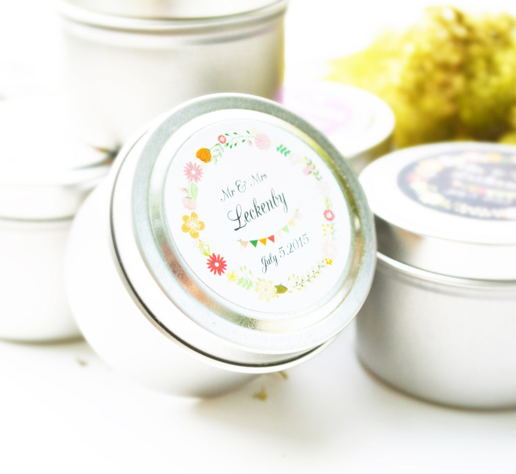 Wedding/Party Favors - 150 Two Ounces Travel Tin Spa Soy Candles
