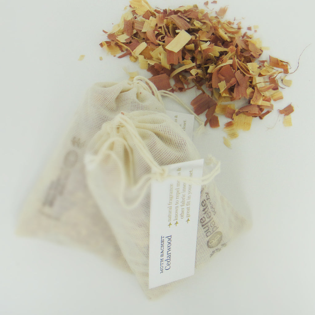 5 Cedarwood (Moth Repellent) Botanical Sachets