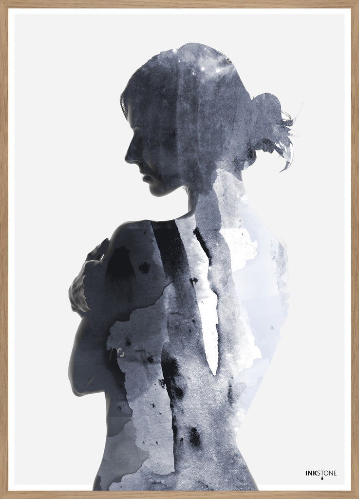 FINE ART POSTER - WOMAN IN BLUE
