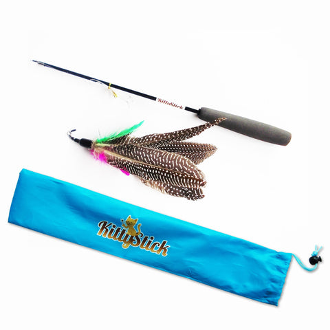 KittyStick Premium Cat Toy With Expandable Rod