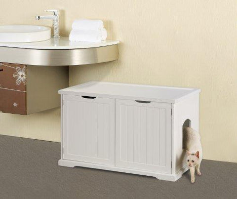 Merry Products Cat Washroom Bench, White: Pet Supplies