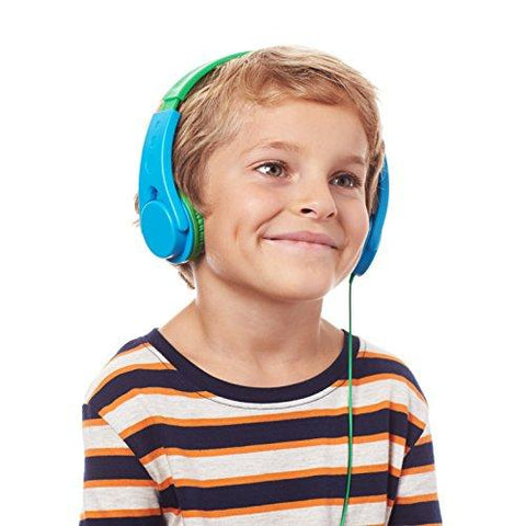 Amazon.com: AmazonBasics Volume Limited On-Ear Headphones for Kids - Blue/Green: Home Audio & Theater
