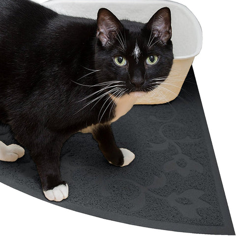 JUMBO Corner Cat Litter Mat - 30' x 30' - Fits Corner And Regular Litter Boxes