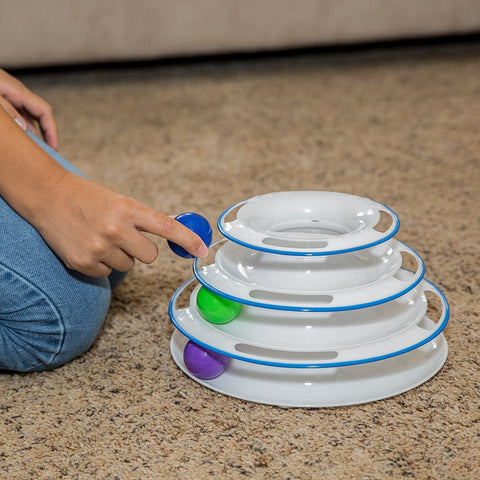 Amazing Cat Roller Toy: Super Fun 3-Level Tower Ball & Track Toy