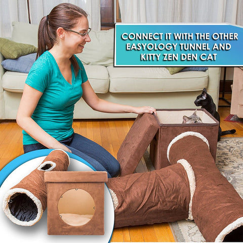 3 Way Cat Tunnel - Attaches to Cat Tunnel and Zen Den