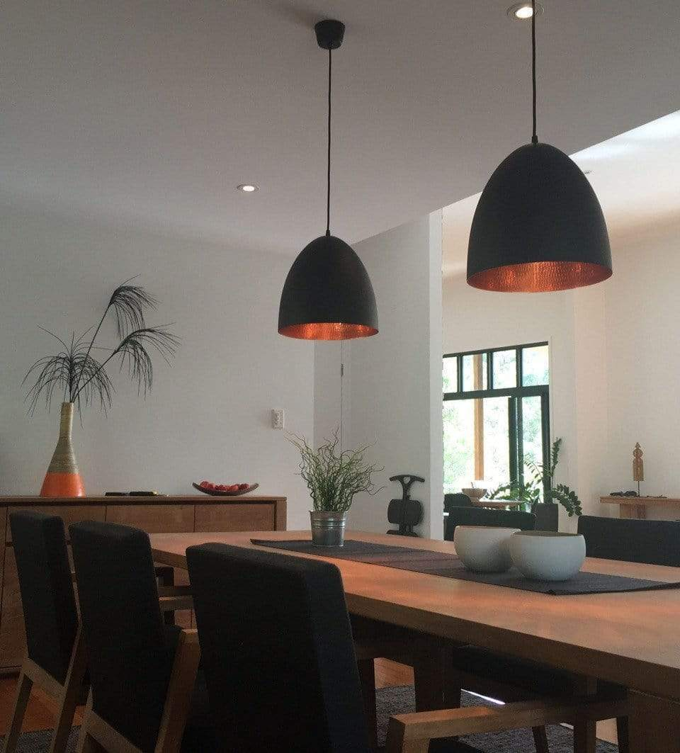 The Black & Copper Egg Ceiling Lamps In The Wild