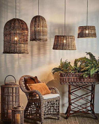 Wicker Rattan Pendants