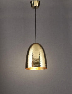 Pendant Light Dolce Beaten Brass Hanging Lamp