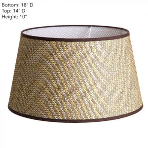 Lamp Shade Brown Basket Weave w/Chic 8x14x10 Euro
