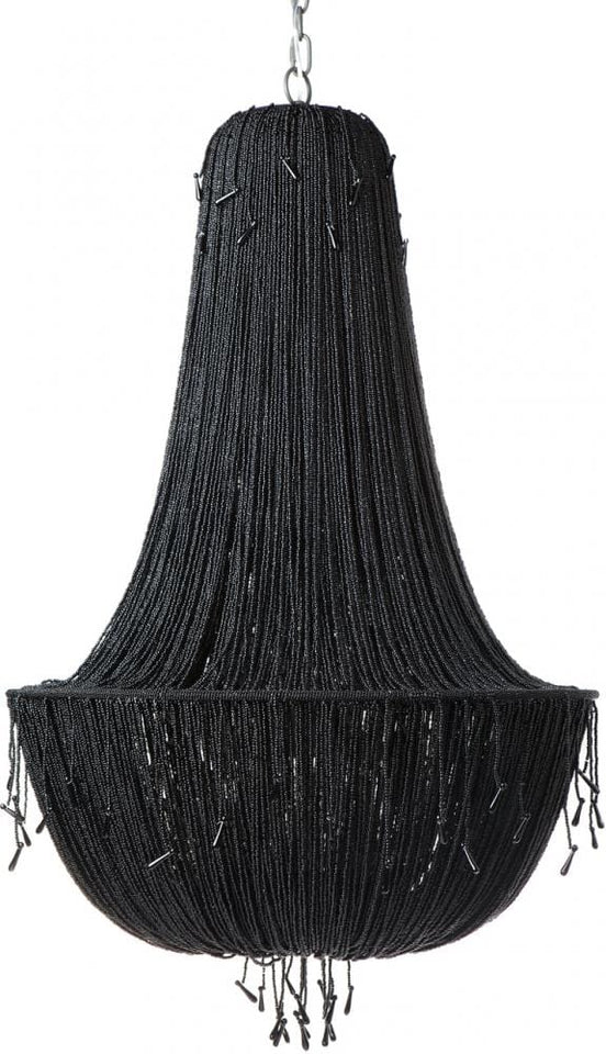 Chandelier Beaded Allegra Black 8 Arm