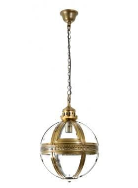 Pendant Light Saxon Pendant Lamp Sml Antique Brass 32Cm