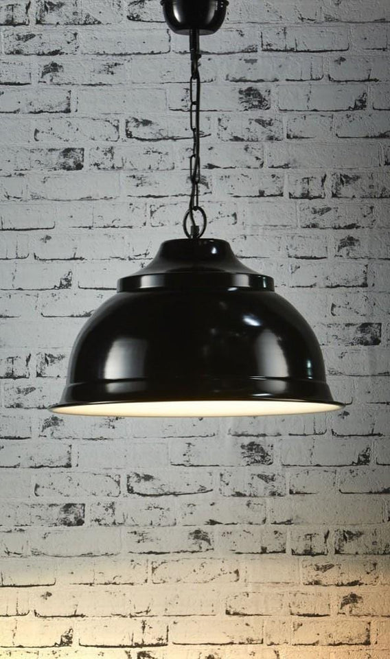 Pendant Light Brasserie Overhead Large Black