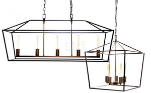 Pendant Light Iron Cage Olivier Large