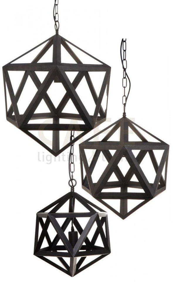 Pendant Light Geometric Iron Staten Large