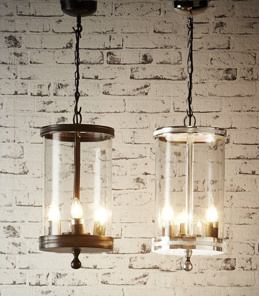 Pendant Light Carnaby Glass Hanging Lamp In Nickel