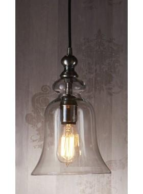 Pendant Light Tivoli Glass Overhead Lamp In Silver