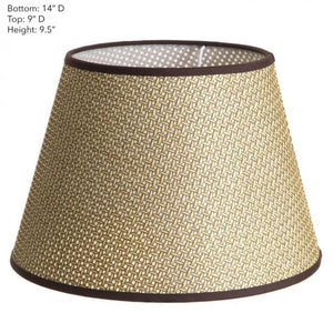 Lamp Shade Brown Basket Weave w/Chic 14x9x9.5 Euro