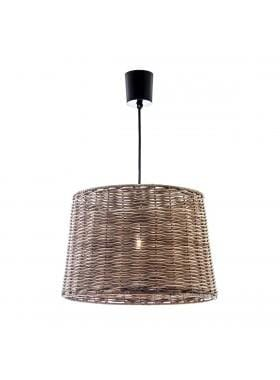 Pendant Light Wicker Round Hanging Lamp Large