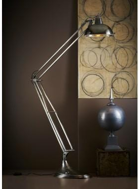 Floor Lamp Mercury Floor Lamp Antique Silver