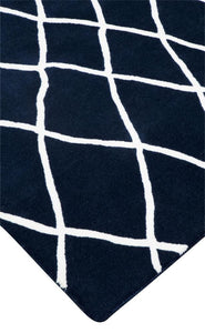 Santa Barbara Blue Steel - White Wool Rug