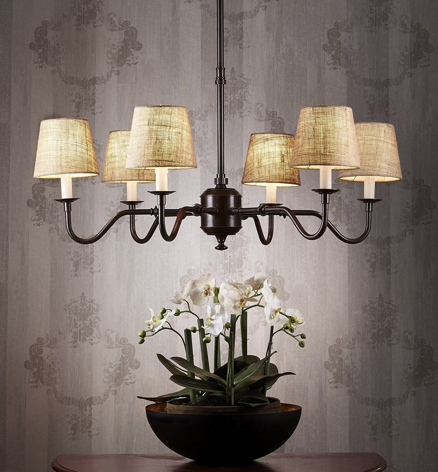 Chandelier Copper Arm 6 Light