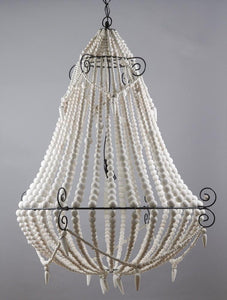 Chandelier Beaded White Large