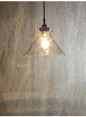Pendant Light Glass Franklin Hanging Lamp In Antique Silver
