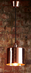 Pendant Light Portofino In Black, Copper, Brass or Silver