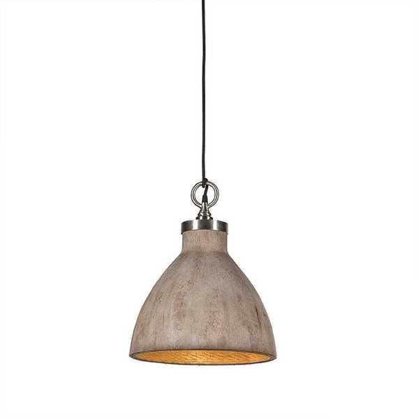 Pendant Light Hard Wood Look Malibu - Medium