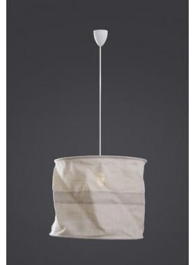 Pendant Light Sac Overhead Lamp(Jute)Crm