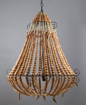 Chandelier Beaded Natural Large