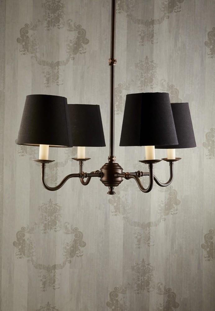 Chandelier Milton 4 Arms In Brass Dark