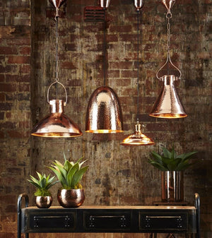 Pendant Light Dolce Beaten Copper Hanging Lamp