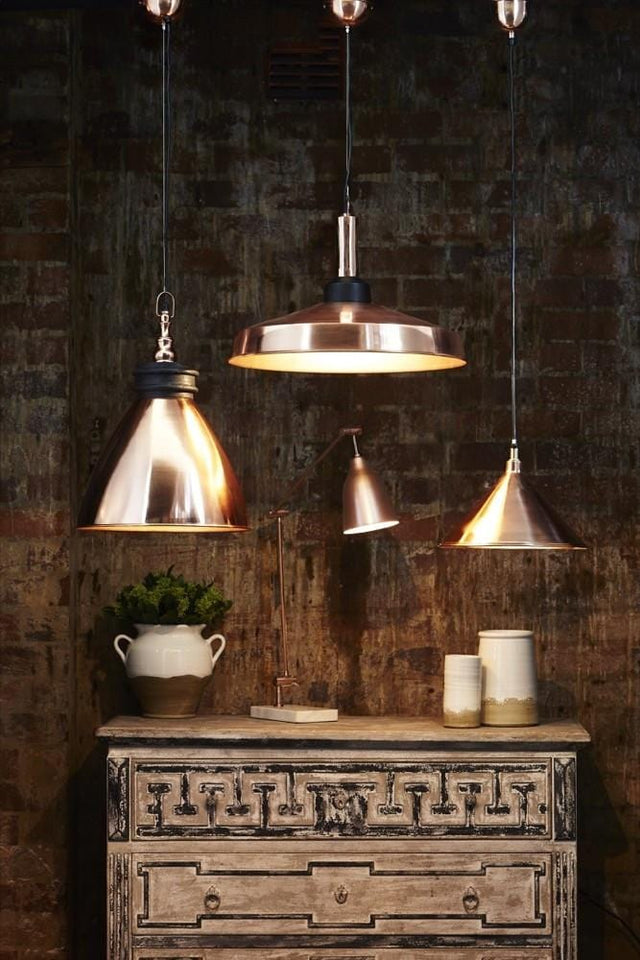 Pendant Light Riverway Hanging Lamp Silver Or Copper