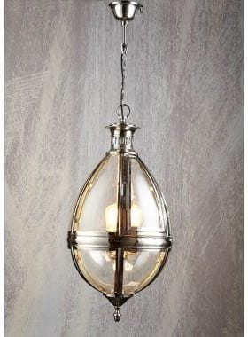 Pendant Light Saville Chandelier Shiny Nickel