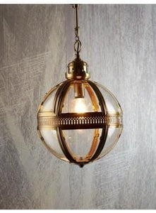 Pendant Light Saxon Pendant Lamp Medium Antique Brass