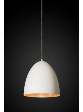 Pendant Light Egg White Label/Copper Ceiling Lamp