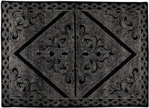 Beteeq Black White Wool Rug