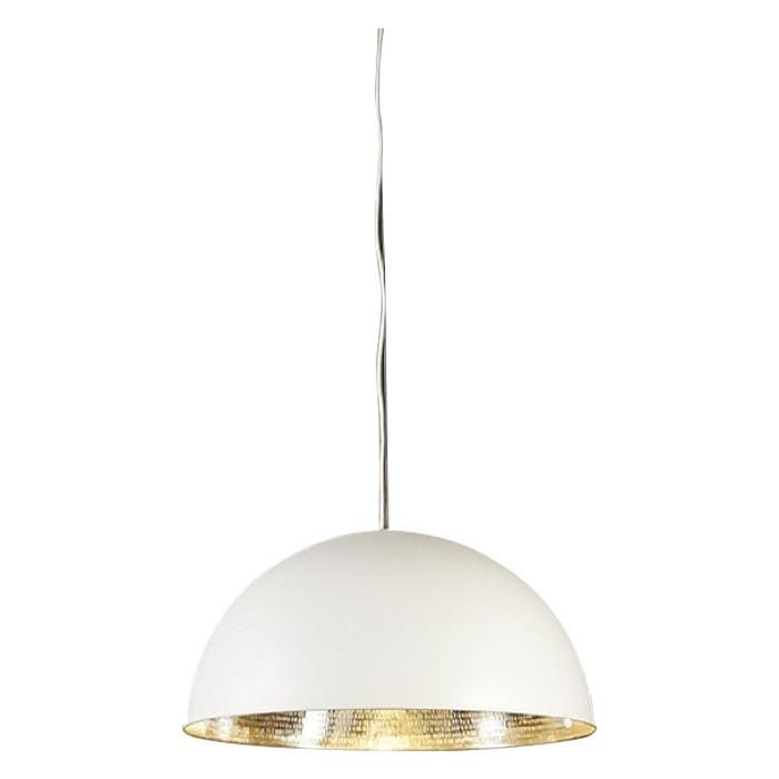 Pendant light dolce beaten silver hanging lamp all of the lights pendant light alfresco dome white silver ceiling lamp aloadofball Gallery