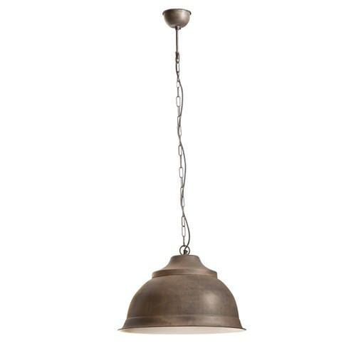 Pendant Light Brasserie Overhead Large Rust
