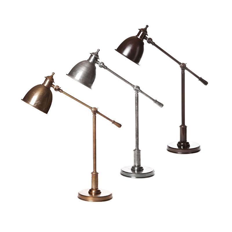 Desk Lamp Vermont Antique Silver, Bronze, Brass