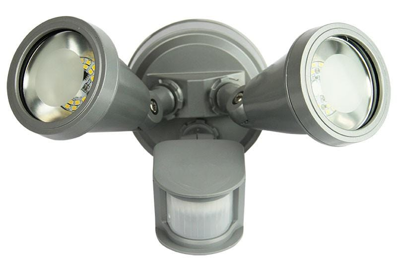 Cadet Led Twin Sensor Flood Silver