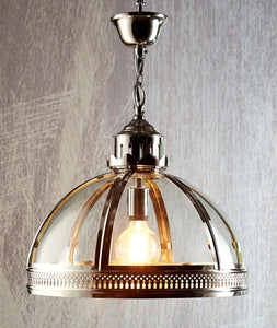 Pendant Light Winston Glass Pendant In Brass